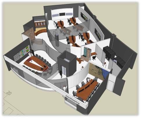 Remote Collaboration Centre Rendering