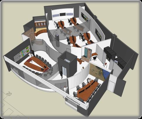 Remote Collaboration Centre Rendering