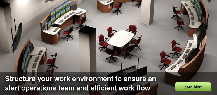 Structure your work environment to ensure an alert operations team and efficient work flow.
