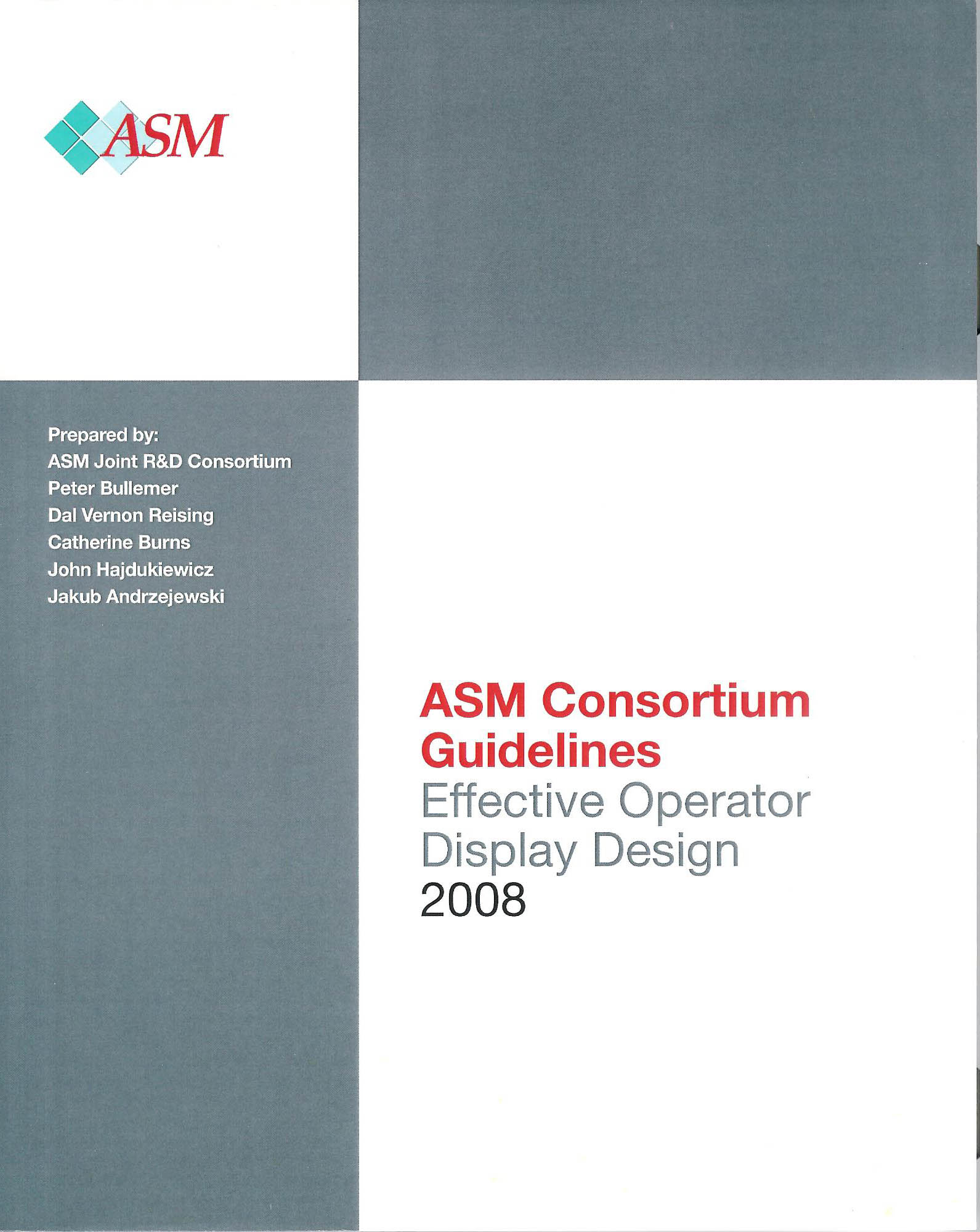 ASM Guidelines for effective operator display design.